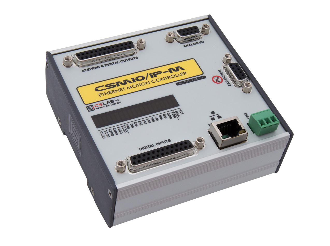 CSMIO/IP-M  4-osiowy sterownik CNC Ethernet, (STEP/DIR)