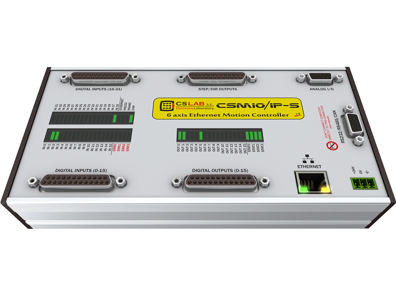 CSMIO/IP-S  6-osiowy sterownik CNC Ethernet (STEP/DIR)