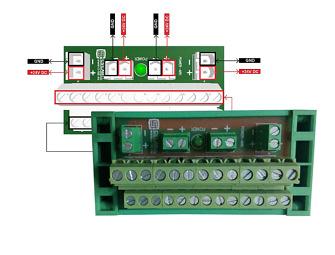 Rozdzelacz zasilania 24VDC