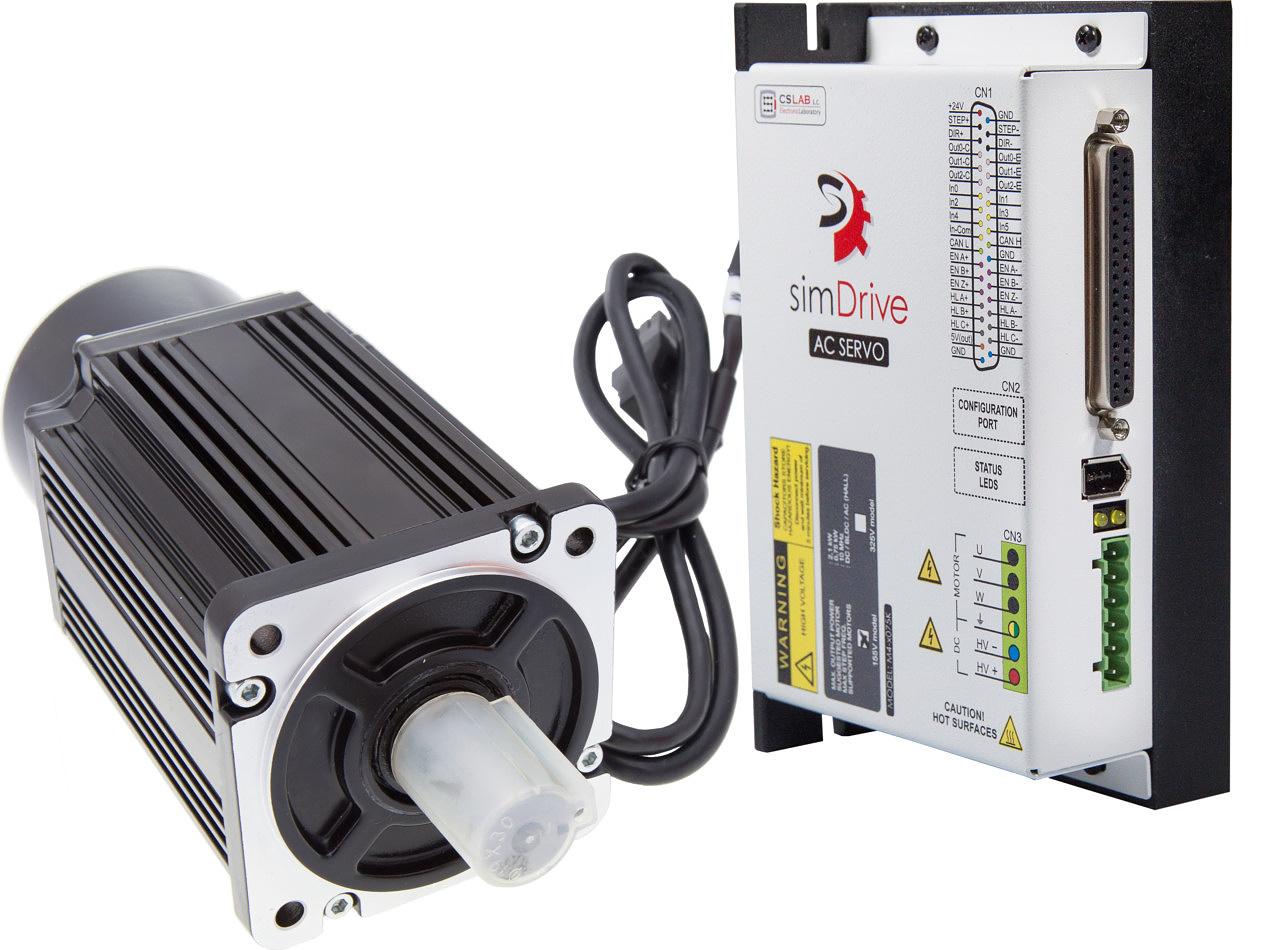Serwonapęd simDrive 750W: serwonapęd + serwosilnik