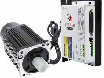 Serwonapęd simDrive 400W: serwonapęd + serwosilnik