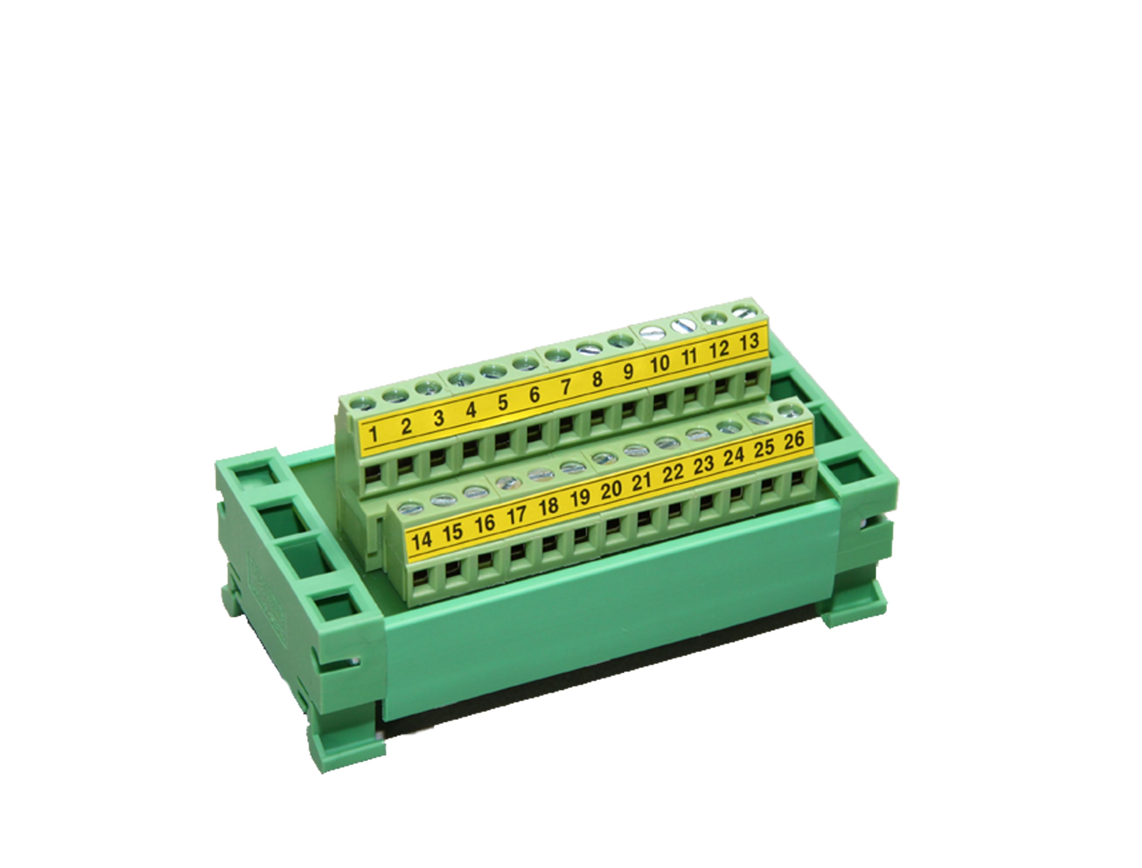 Listwa przyłączeniowa na szynę DIN – DB25 terminal block + taśma przyłączeniowa