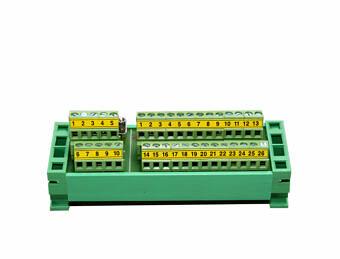 Listwa przyłączeniowa na szynę DIN – DB25+DB9 terminal block + taśmy przyłączeniowe