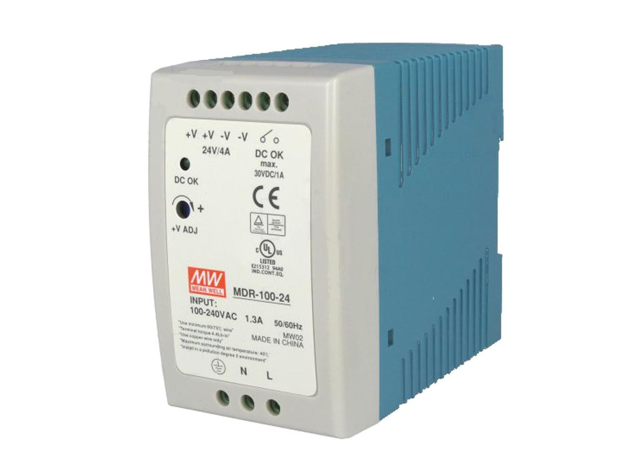 Zasilacz impulsowy na szynę DIN 24V/4A firmy MeanWell