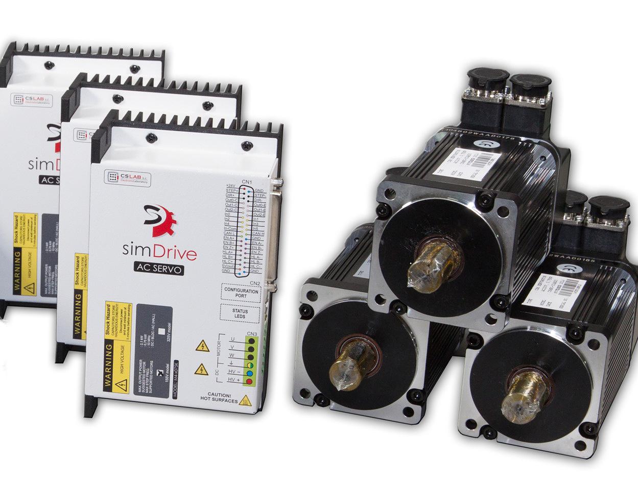 Zestaw na 3 osie Serwonapęd & Silnik 750W: simDrive™ + CSM Servo Motor