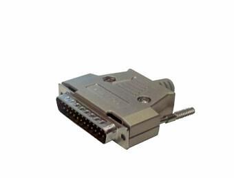 Wtyczka DB25 MALE w metalowej obudowie